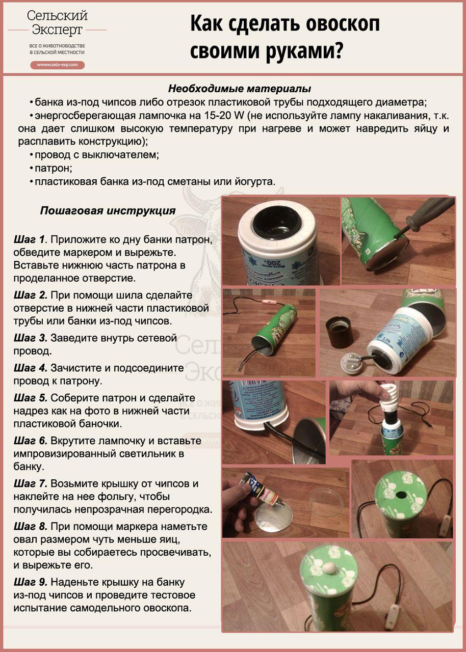 Как сделать овоскопа