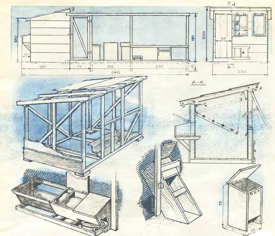 Как построить птицеферму своими руками чертежи