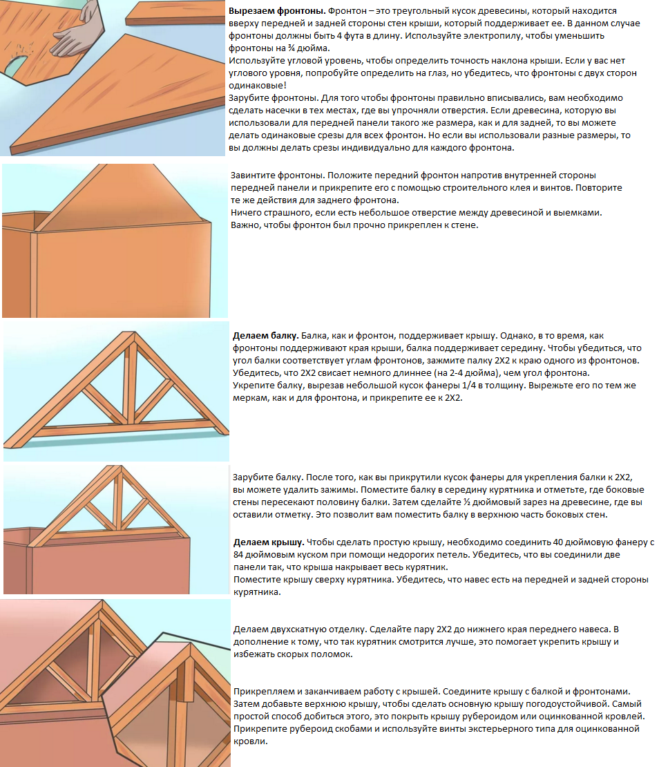 Сделать крышу своими руками инструкция