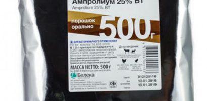 Внешний вид упаковки препарата Ампролиум