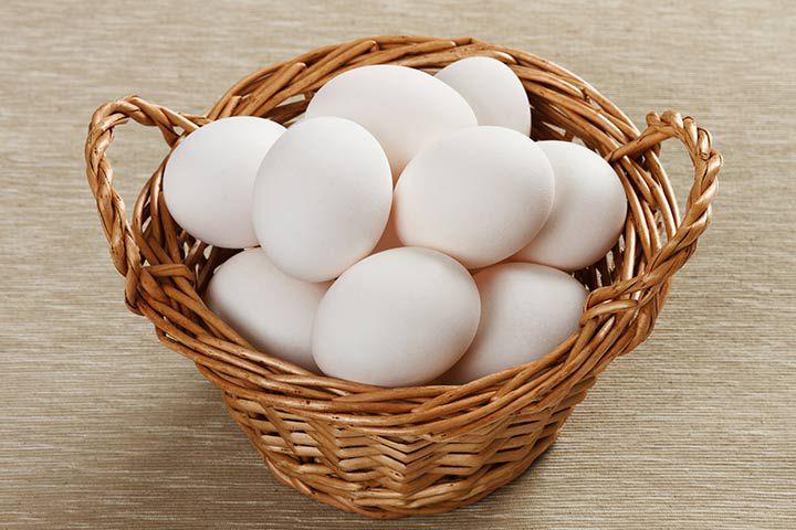 Внешний вид яйца куры Уайт Декалб