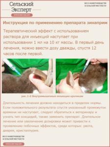 Применение препарата Зинаприм в инъекциях