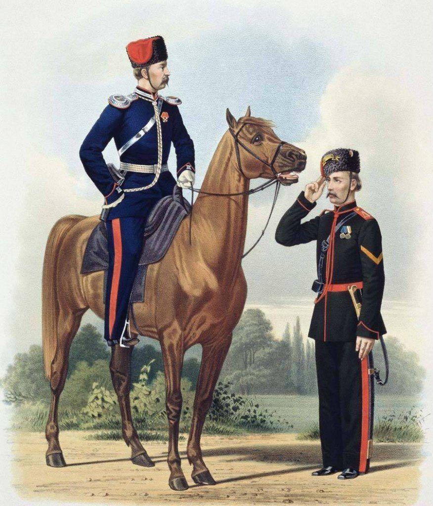 Иллюстрация - донская лошадь и казаки