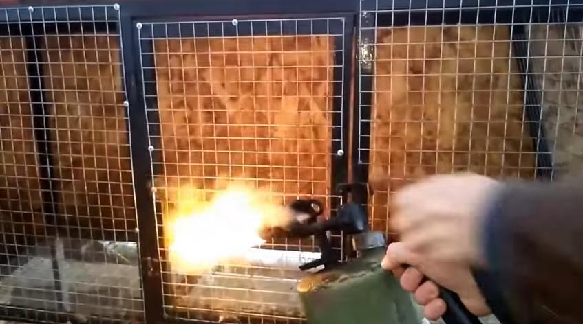 Обжиг кроличьих клеток