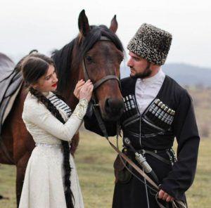 Адыгский жеребец – традиционных свадебных приготовлений черкесов