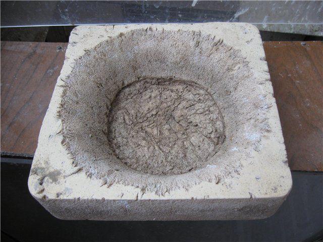 Гнездо пенопластовое после нескольких лет эксплуатации