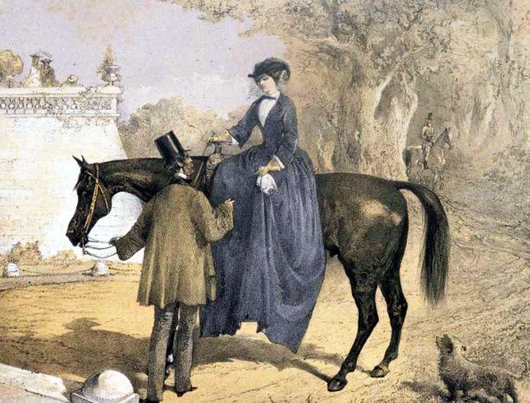 Женщины-аристократки всегда хотели управлять лошадью самостоятельно