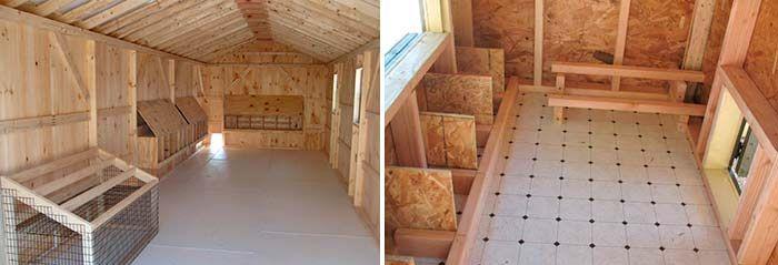 Линолеум поможет защитить деревянный пол в птичнике