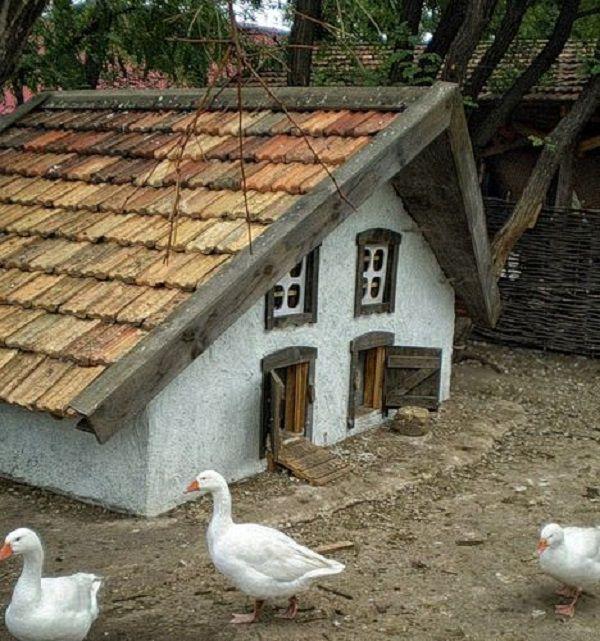 Оригинальный домик для гусей