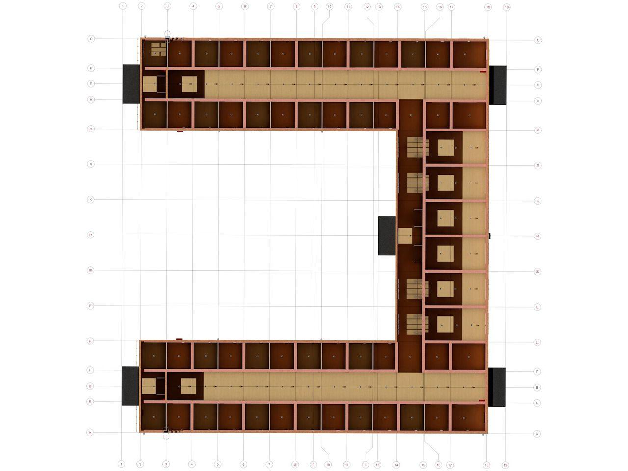 План первого этажа конюшни