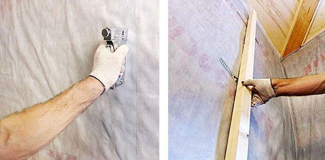 Поверх слоя с пароизоляцией можно положить пергаментную бумагу