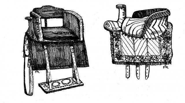 Средневековое дамское седло