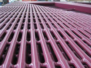 Строение металлических щелевых полов