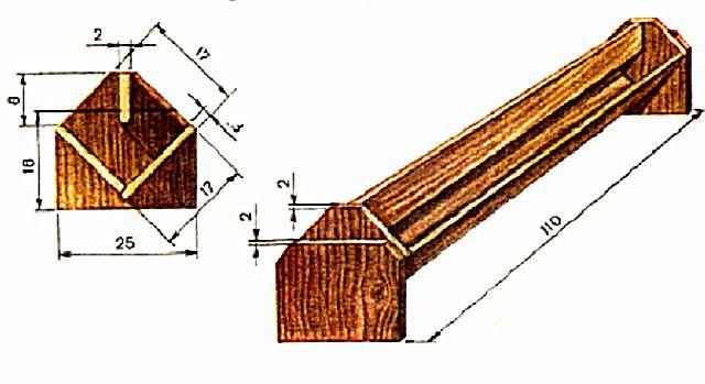 Схема двубортной кормушки