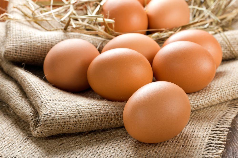 У голошейных кур яйца кремового оттенка
