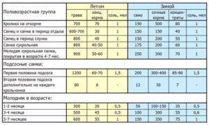 Нормы кормления в разные периоды (в граммах)