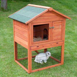 Вольер или клетку для рекса нужно строить из твердых материалов, чтобы кролики их не сгрызли