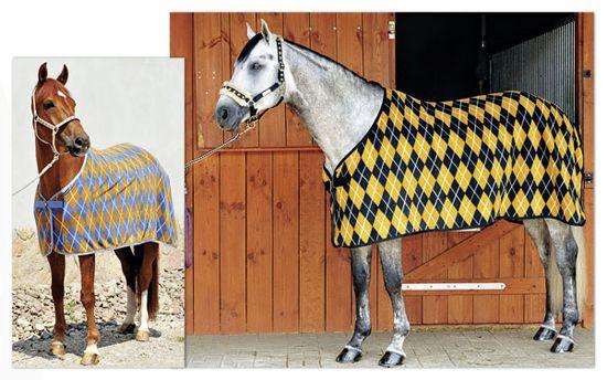 Конюшенная попона защищает лошадь от пыли
