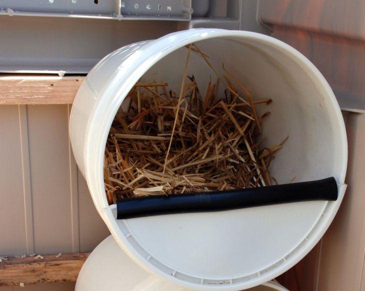 Гнездо для индоутки можно сделать из любых подручных материалов