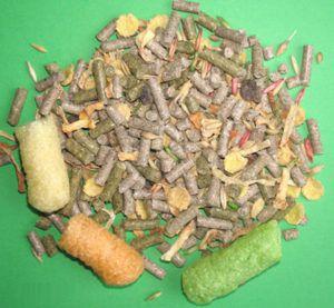 Специальные корма для кроликов