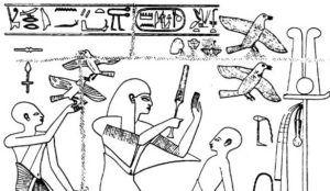 Упоминание о голубях встречается на рисунках древних египтян