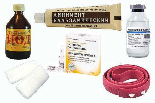 Примерный состав аптечки для лошади