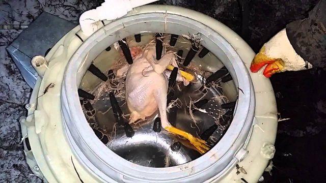 Самодельный перосъемник из стиральной машины