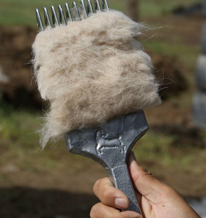 Вычёсывание коз проводят специальной расчёской