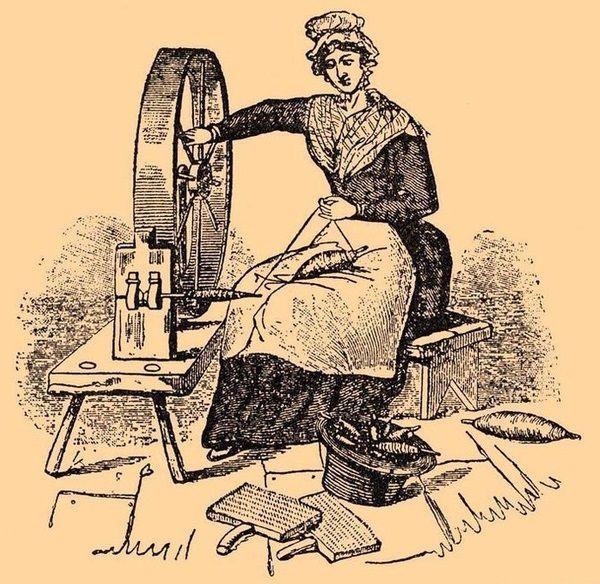 Древний способ прядения с помощью веретена
