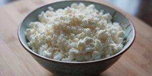 Обезжиренный творог – хороший источник белка для уток