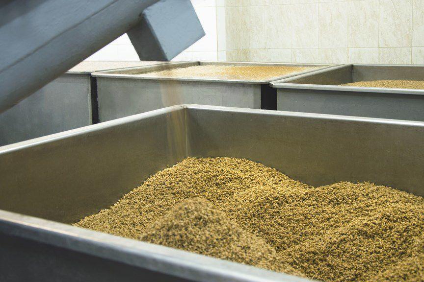 Измельченное зерно