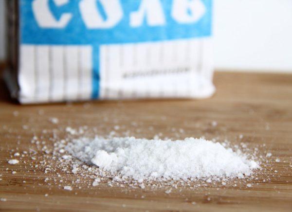 Соль включают в рацион в небольшом количестве