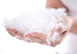 Пух и перо используют для изготовления подушек