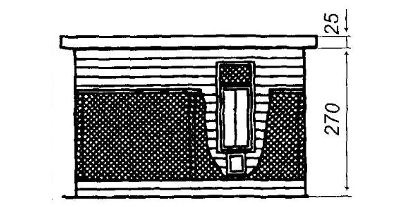 Индюшатник: вид со стороны входа