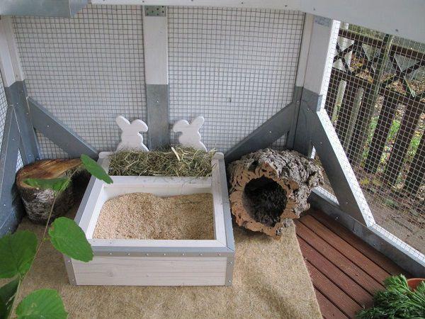 Удобство и красота лотка не привлекут кролика, если внутри насыпан неприятный зверьку наполнитель