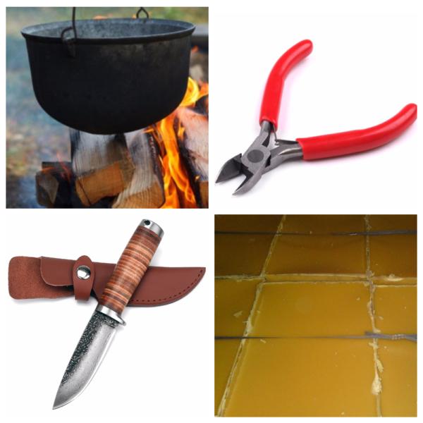 Инструменты, необходимые для ощипывания утки сразу после убоя