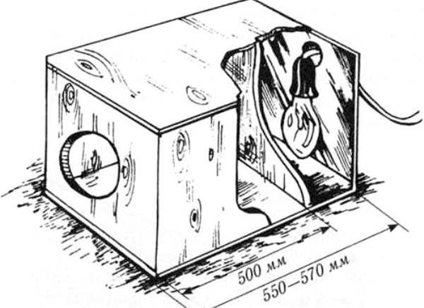 Схема установки инфракрасной лампы в гнездо