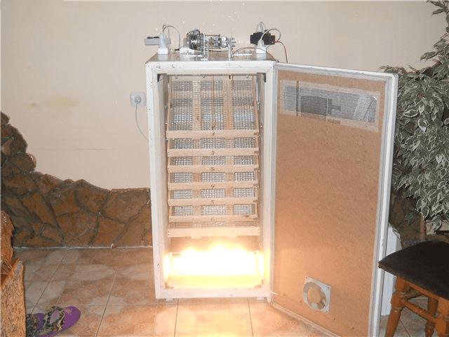 Вертикальный инкубатор из холодильника