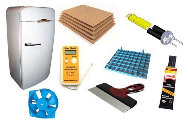 Материалы для инкубатора из холодильника