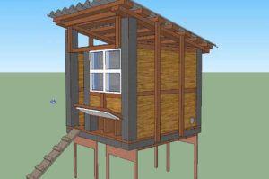 Односкатная крыша для курятника