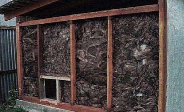Утепление курятника минеральной ватой снаружи