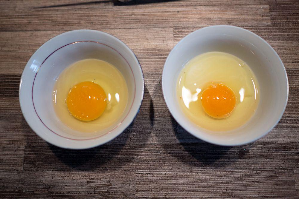 Слегка замутненный белок служит гарантом качества яйца