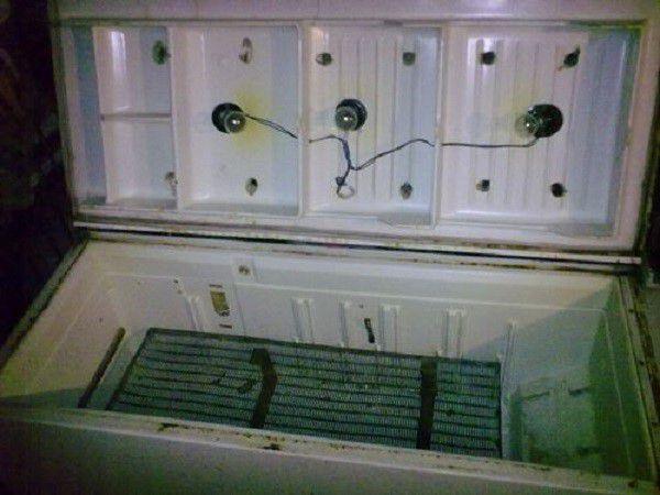 """""""Лежащий"""" инкубатор из старого холодильника"""