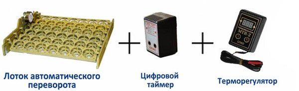 Обязательные составляющие набора для автоматического инкубатора