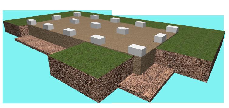 Иллюстрация готового фундамента