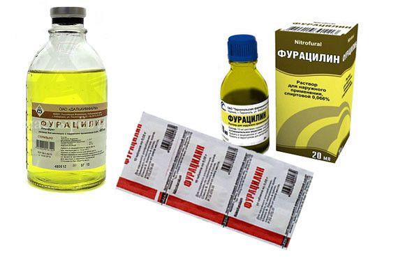 Фурацилин используют как средство против дерматита