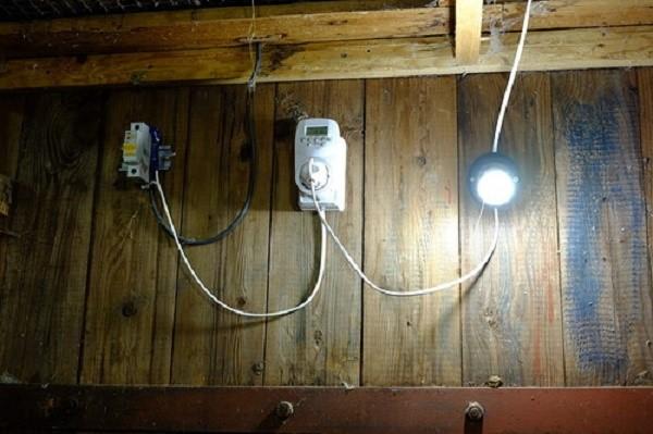 Лучше всего для обустройства курятника использовать лампы нового образца