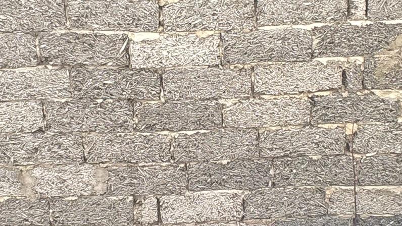 Пример стены из арболита