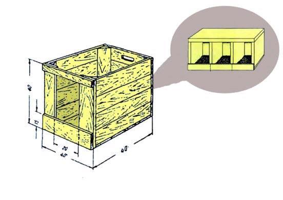 Примерный чертеж конструкции гнезда