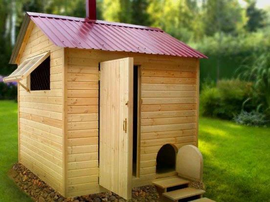 При наличии малочисленного поголовья достаточно будет возвести даже небольшой домик